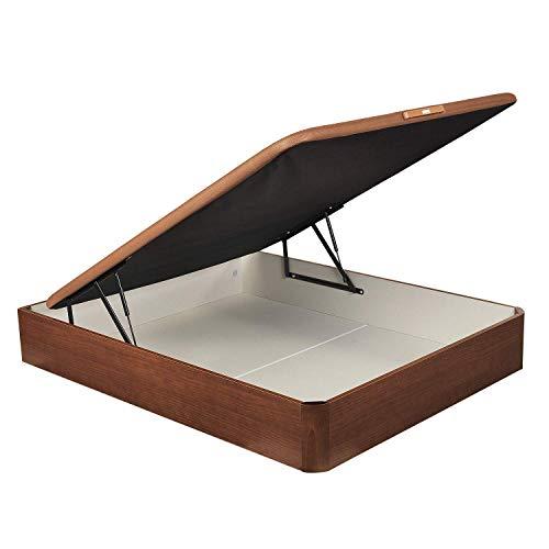 PIKOLIN, canapé abatible de almacenaje Color Cerezo 135x190, Servicio de Entrega Premium Incluido