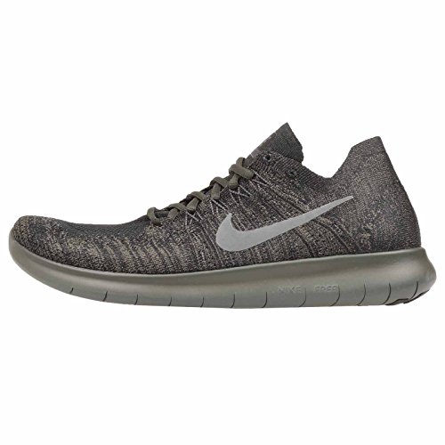 Nike Men's Free RN Flyknit 2017 Running Shoe Black/River Rock-Anthracite-Dark Grey 14.0
