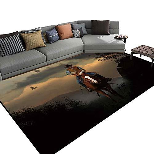 Area Rug Pet Friendly Rug for Bedroom, Living Room 6x9 Feet