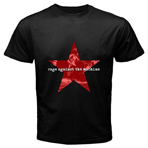 New Rage Against The Machine *Stacked Star Logo Men's Black T-Shirt Size S-3XL