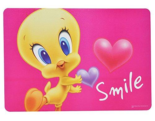 alles-meine.de GmbH Unterlage - Baby Looney Tunes Tweety - 43 cm * 29 cm - Tischunterlage / Platzdeckchen / Malunterlage / Knetunterlage / Eßunterlage - Bugs Bunny Taz Tiere - fü..