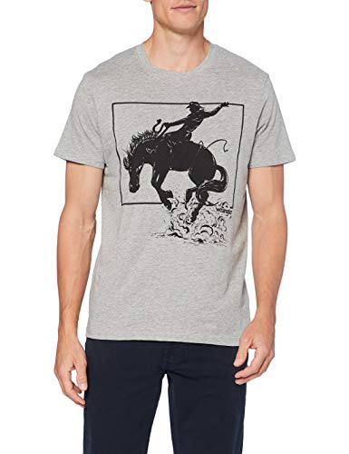 Wrangler Mens SS Graphic Horse Tee T-Shirt, MID Grey Mel, XXL