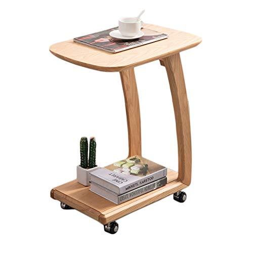 C Tabla C Mesa para La Rueda De Sofá Mesa De Té Móvil Sofá De Esquina Tabla C Table Tabla Tabla Tablas De Sofá Que Se Deslizan Debajo (Color : Beige, Size : 63 * 33 * 52cm)
