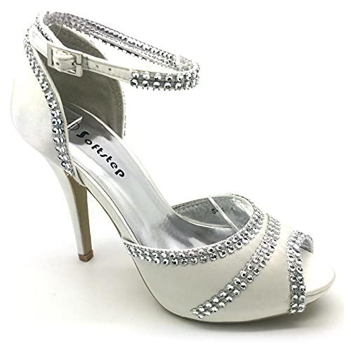 Sandalias de tacón alto para mujer, con plataforma, para vestido de novia,...