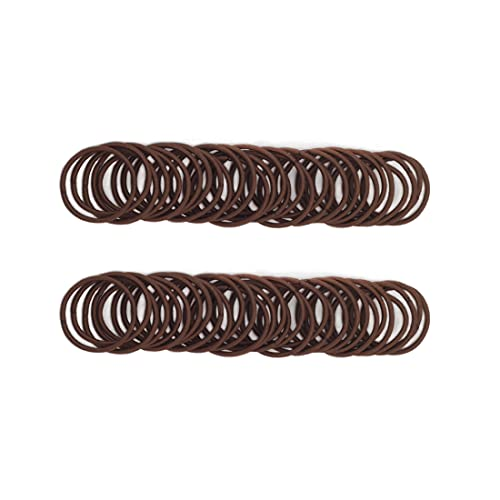 100 Pieces Small Baby Girls Hair Elastics Hair Ties Ponytail Holders Hair Bands for Kids(2 mm x 2.5 cm,Brown)