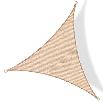 Amazon - 70% Off on Sun Shade Sail Triangle 12'x12'x12′ UV Block Canopy for Patio Backyard Lawn Garden Outdoor