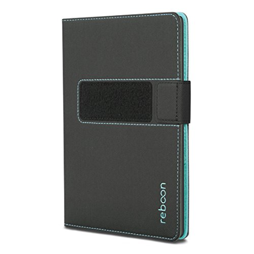 reboon booncover eReader Hülle | u.a. für Kindle HD6, tolino vision 2, Oyo 2 | schwarz Gr. S3 | eReader Tasche mit Standfunktion, eReader Wandhalterung & mehr