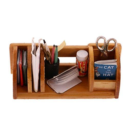 1/12 Juegos para Casas de Muñecas Muebles en Miniatura Estantería de Libros - Madera