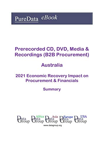 Prerecorded CD, DVD, Media & Recordings (B2B Procurement) Australia Summary: 2021 Economic Recovery Impact on Revenues & Financials (English Edition)