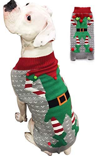 BOBIBI Dog Sweater for Christmas Pet Cat Winter Knitwear Warm Clothes