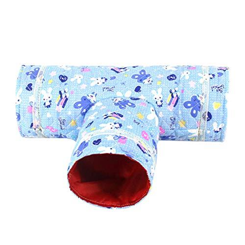 Queta - Cama de Navidad para hámster Totoro, 3 Canales, chinilla, Conejo, Nido de Rata, Mascotas pequeñas, Accesorios de Juguete de Ardilla Evade