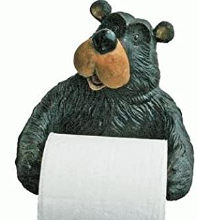CT DISCOUNT STORE Adorable and Humorous Woodland Bear Holding Toilet Paper While Pinching Nose