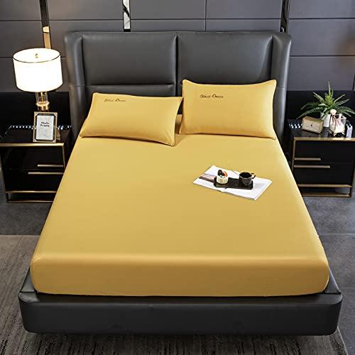 Bolo Bed Sheet King Size Algodón (amarillo, 200 x 220 cm)
