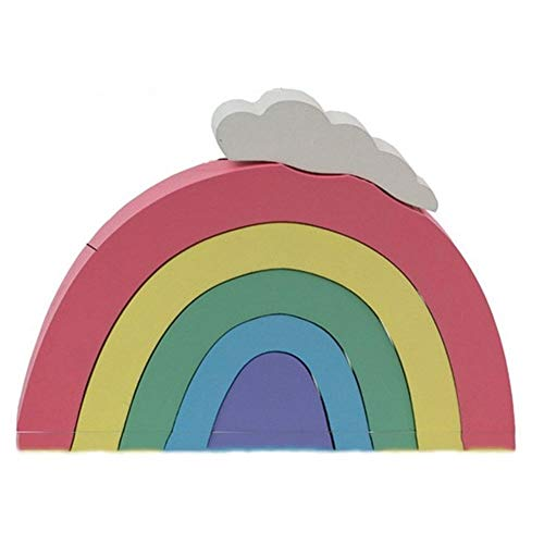 Arco Iris de la Pila Coloridos Juguetes de Madera Regalos de Bloques de construcción de Juguetes educativos Montessori apilamiento Juego Creative Kids (Color : D)