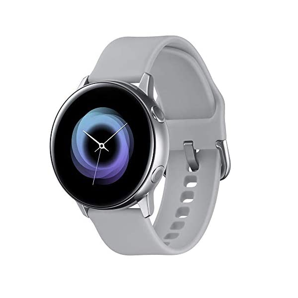 Samsung Galaxy Watch Active – 40mm, IP68 Water Resistant, Wireless Charging, SM-R500N International Version (Silver)