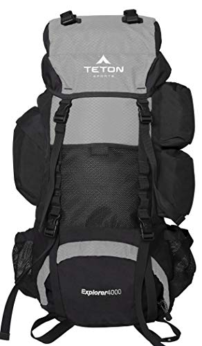 TETON Sports Explorer 4000 Internal Frame Backpack; High-Performance Backpack for Backpacking,...