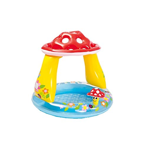 Intex 57114 - Piscina Bebé con Parasol, Multicolor, 102 x 1