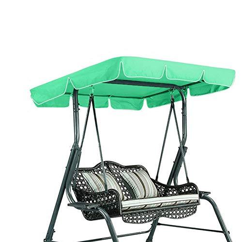Cubierta para columpio para dosel de patio, resistente a los rayos UV, parasol para el sol, asiento de columpio, cubierta superior de repuesto, para tres personas, para césped de jardín(verde)