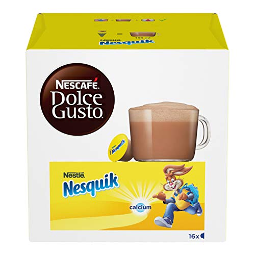 NESCAFÉ DOLCE GUSTO NESQUIK Bevanda al gusto di cioccolato 3 confezioni da 16 capsule [48 capsule]