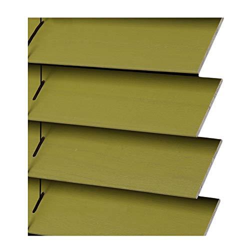 YJFENG-Jalousien fenster Holzlamellen Vorhänge Wasserdicht, Lichtsteuerung Sonnencreme Vertikal Abgesenkt Angehoben 3 Farben Anpassbar (Color : C, Size : 90x200cm)