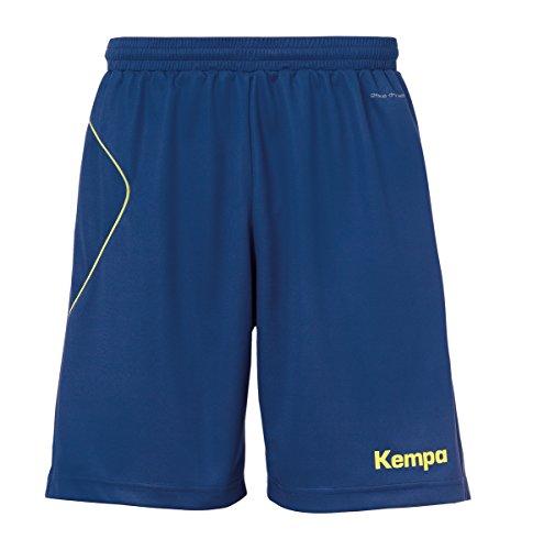 Kempa Herren Curve Shorts Hose, deep blau/Fluo gelb, XL