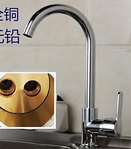 Wasserarmatur Küchenarmatur Kupfer warm und kalt drehbar