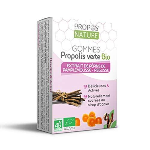 Gommes à la propolis verte Bio Epp - Réglisse - Certifiées AB - Sans Sucre - 45g