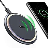 Andobil Official Qi Certified Fast Charge Wireless Phone Charger Pad with Cooling Fan for iPhone Galaxy Android Phones, iPhone 12 11 X, Samsung Galaxy S21 S20 Note 20,Pixel 5/4 AirPods(2021 Edition)