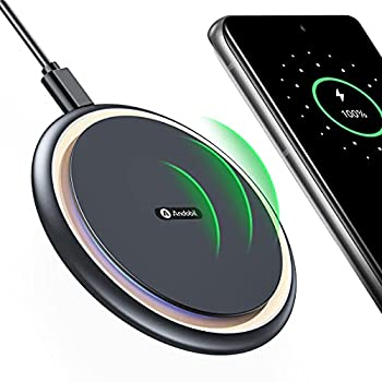 Andobil Official Qi Certified Fast Charge Wireless Phone Charger Pad with Cooling Fan for iPhone Galaxy Android Phones iPhone 12 11 X Samsung Galaxy S21 S20 Note 20,Pixel 5/4 AirPods 2021 Edition