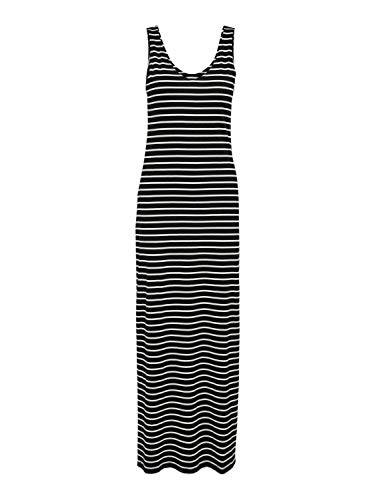 ONLY Damen ONLMAY Life S/L V-Neck Stripe Dress JRS Kleid, Black, XS