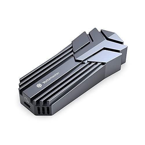 Yottamaster M.2 NVMe SSD Gehäuse mit Lüfter,Unterstützt bis zu 4 TB, USB3.2 GEN2X2 20Gbps Aluminium Gaming M.2 Gehäuse adapter für 2230/2242/2260/2280 M-Key/B&M-Key SSD, Unterstützung SMART&Trim [MS4]