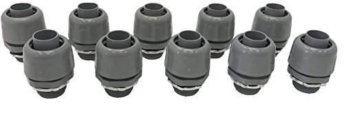 Sealproof 3/4-Inch Non-metallic Liquid Tight Straight Electrical Conduit Connector Fitting, UL Listed, 3/4