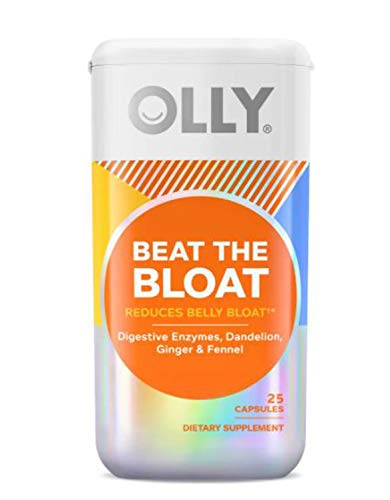 Olly Beat The Bloat Supplements 25 Capsule! Blend Of Dandelion, Fennel And Ginger! Helps Reduce Belly Bloat Caused By Digestion Woes, Gas And Water Retention! Choose From 1 Pack, 2 Pack Or 3 Pack! (1)