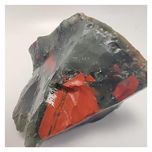 HAIBOMY Cristal Natural Rugoso 80-100g Natural Africano Piedra de Sangre Cruda Cristal Mineral Dragón Dragón Sangre Minnerals Minnerales Espécimen Forma Irregular (Color : 80 100g, Size : 3 8cm)