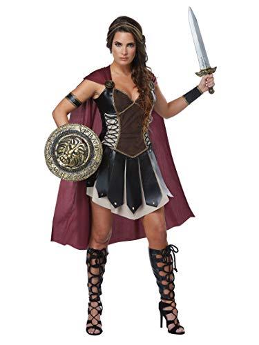 California Costumes Women's Glorious Gladiator Adult Woman Costume, Black/Burgundy, Extra Large