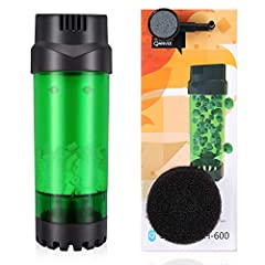 Self Cleaning Filter Media constantly moving around and rub against each other only letting the strongest nitrifying bacterla survive Simply Hook up to an Air Pump and getting all the benefits of oxygen in the water and a super charged biofilter. Oxy...