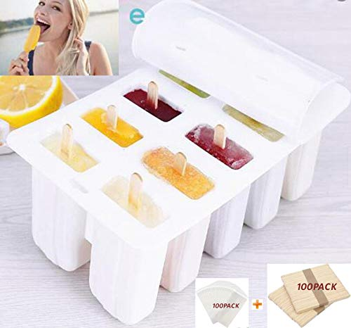 10 Popsicle Mold 100 Sticks & Bags