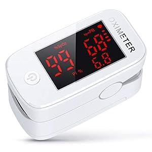 konjac oxímetro de pulso de dedo, Monitor de saturación de oxígeno en sangre con PR (frecuencia del pulso), PI (índice de perfusión)