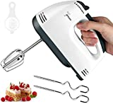 Hand Mixer Electric, New 7-Speed Hand-Held Electric Mixer, Portable Kitchen Mixer Stainless Steel Egg Whisk with Egg White Separator, Egg Sticks and Dough Sticks or Kitchen Aid, Baking, Cake, Cooking