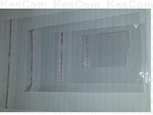 100 Stück Folienbeutel selbstklebend 80 x 110mm (+25mm) transparent unbedruckt Plastiktüten klar Adhäsionsverschlussbeutel