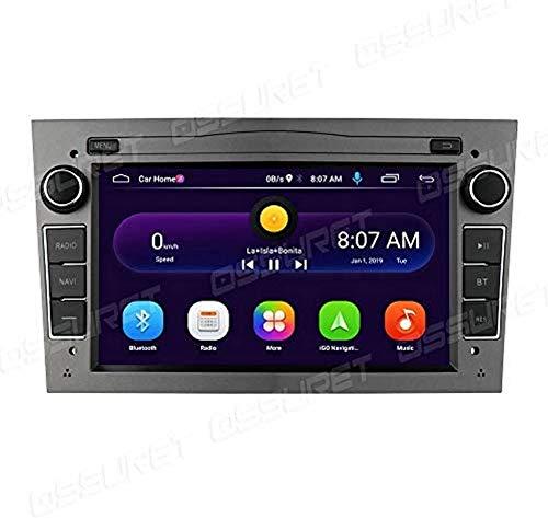 FWZJ Android 10 Car Radio Reproductor Multimedia Bluetooth con Pantalla táctil de 7 Pulgadas + CANBUS para Opel Astra H/Corsa C & D/Tigra TwinTop Compatible con iOS y Android Mirror-Link (Gri