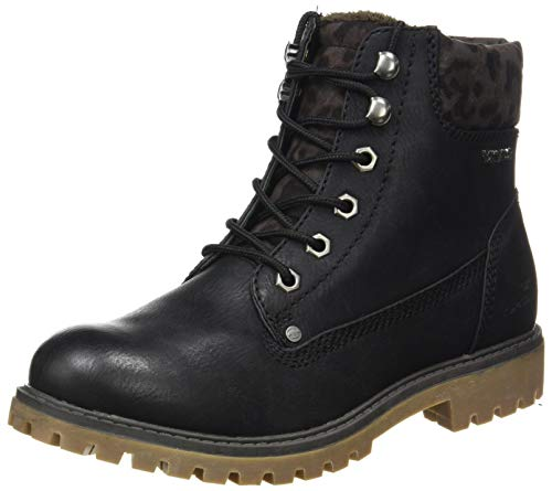 Tom Tailor Womens 9090104 Mid Calf Boot Bootie Boot, Black, 5.5 UK