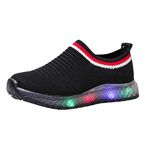 Kinderschuhe LED Leuchtende Sneakers Freizeitschuhe Baby Mesh Socken Schuhe Outdoor Slip-On Sportschuhe Mädchen Jungen Atmungsaktive Sport Run Sneakers