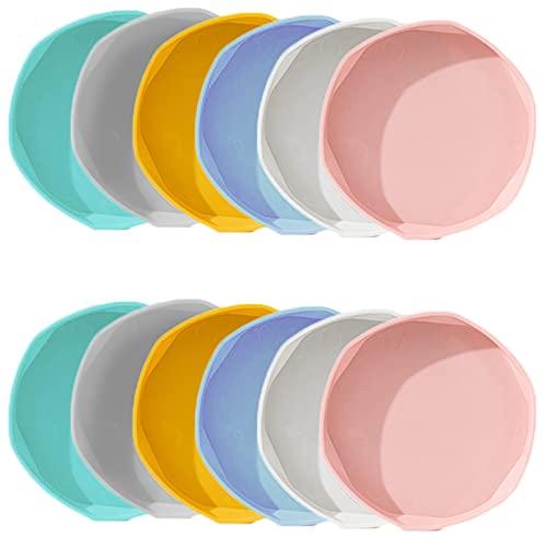 Greyoe Plato para Maceta, Platillo Maceta Plastico, Bandeja para Macetas de 12 Piezas en 6 Colores...