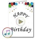PlayMegram bespielbare Audio-Geburtstagskarte mit USB und 128 MB Speicher, Eigene Sprachnachrichten...