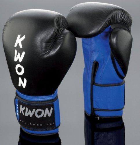 Kwon Boxhandschuhe KO Champ Gr. 10 oz schwarz/blau