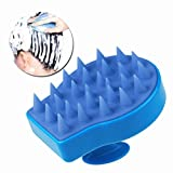 Nument(TM) Massage Brush for Hair, Soft Silicone Shampoo Comb Scalp Massage Brush Color Blue
