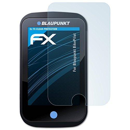 atFoliX Schutzfolie kompatibel mit Blaupunkt BikePilot Folie, ultraklare FX Displayschutzfolie (3X)