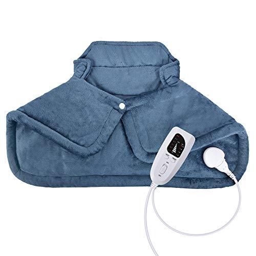 Volenx Heizkissen für Nacken und Schultern, elektrisches Heizkissen für Rückenschmerzen und Krämpfe, 6...