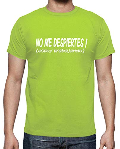 latostadora - Camiseta No Me Despiertes Estoy para Hombre Pistacho S